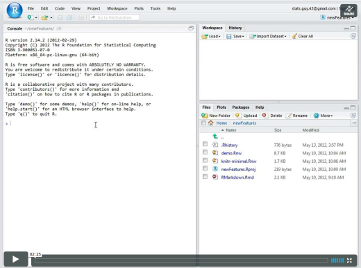 New Version of RStudio (v0.96)