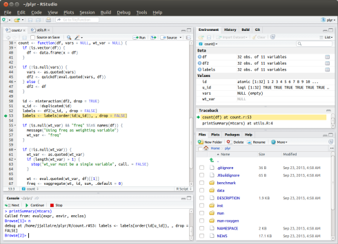 RStudio v0.98 Preview (Debugging Tools and More)