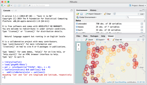 htmlwidgets: JavaScript data visualization for R