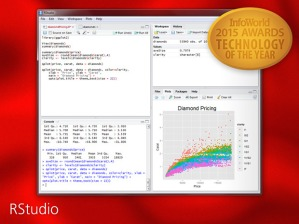 RStudio – Infoworld 2015 Technology of the Year Award Recipient!