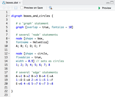 RStudio v0.99 Preview: Graphviz and DiagrammeR