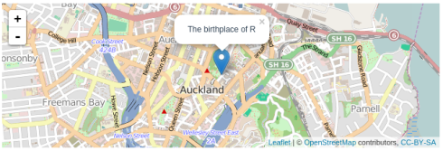 Leaflet: Interactive web maps with R