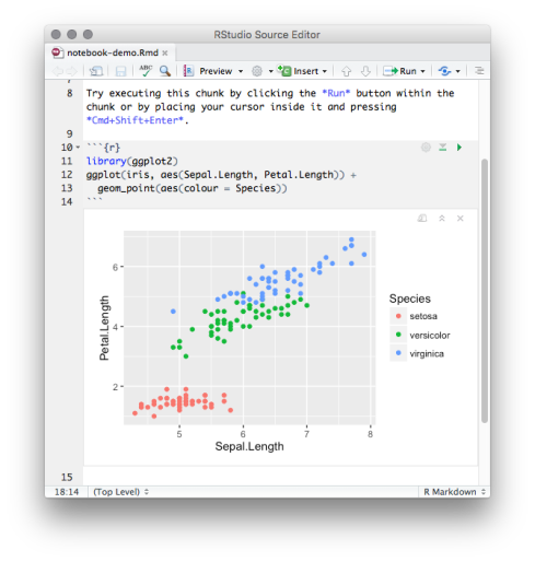 R Notebooks | RStudio Blog