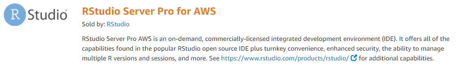 RStudio Server Pro is now available on AWS Marketplace