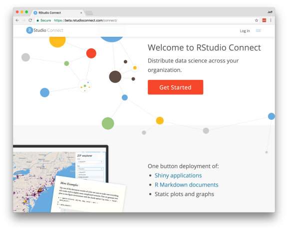 New landing page in RStudio Connect v1.5.0
